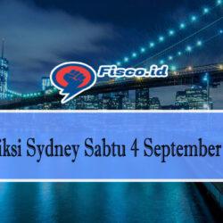 Prediksi Sydney Sabtu 4 September 2021